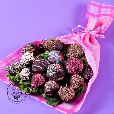 Ramo con 15 fresas con chocolate
