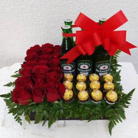 Rosas, chocolates y cervezas
