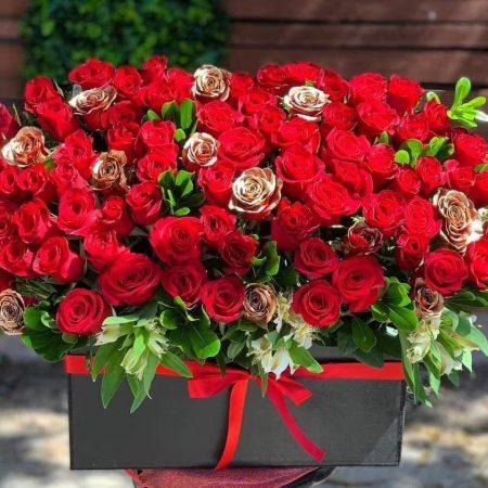 250 Mini Rosas en arreglo floral